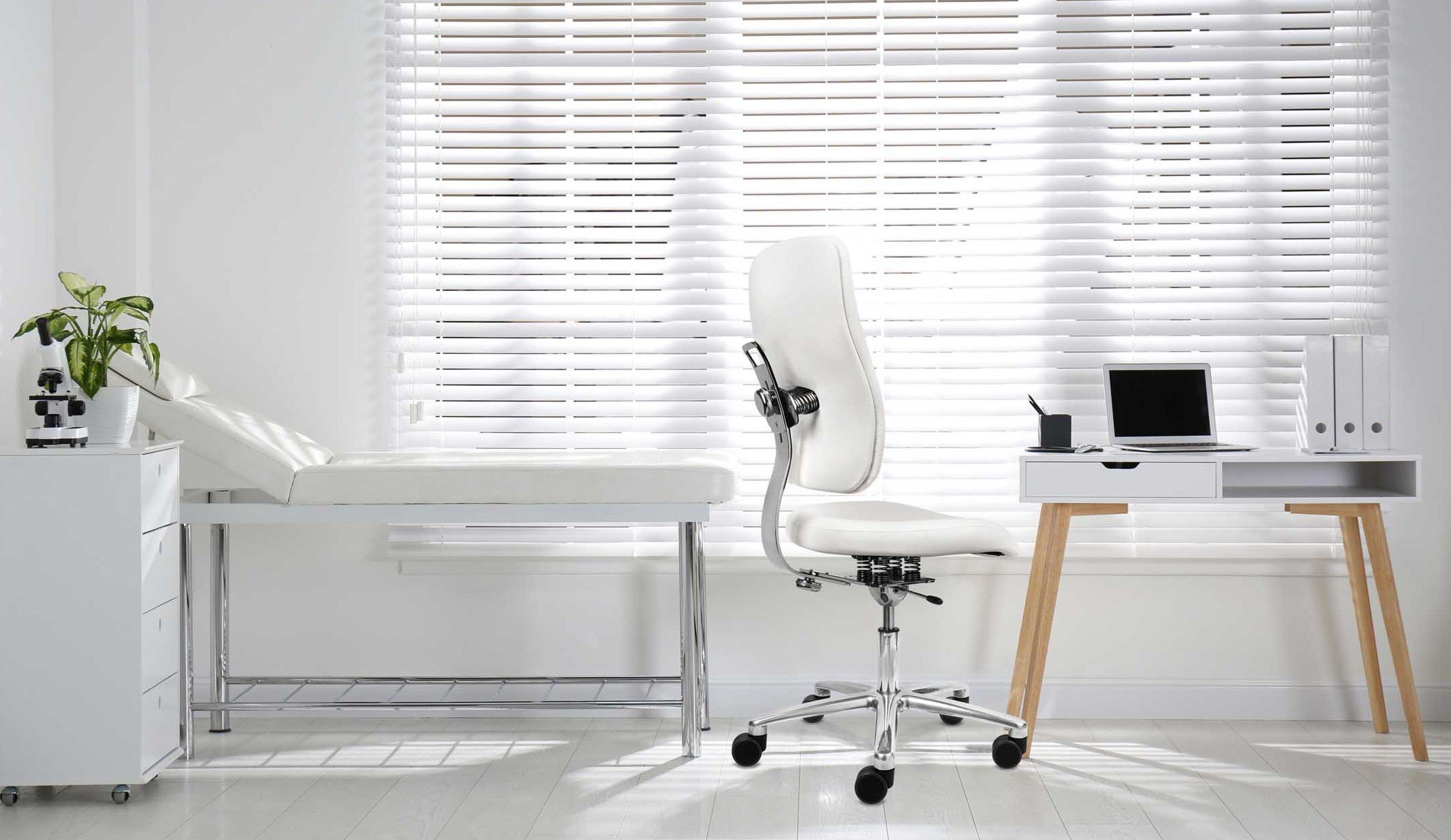 active sitting chair in doctor's surgery